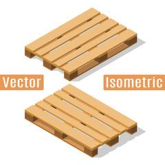 Wooden pallet isometric