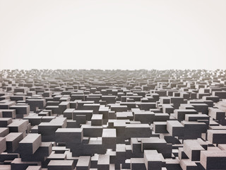 Abstract image of cubes background 3d rendering