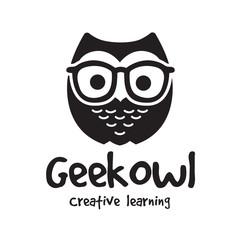 owl logo.cute animal logo.