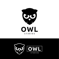 owl logo.cute animal logo.
