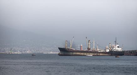 ship at capri island