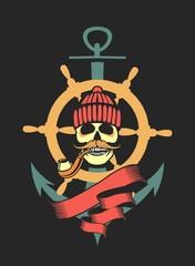 Marine emblem skull
