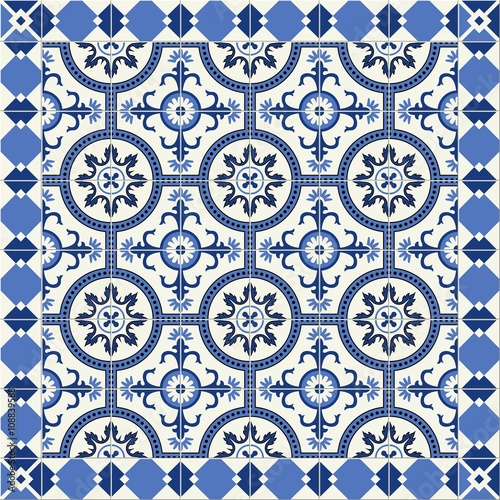 gorgeous seamless pattern from blue and white floral. Black Bedroom Furniture Sets. Home Design Ideas