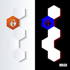Hexagons_Orange_Icon_Vertical - fototapety na wymiar