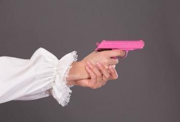 Pink gun closeup