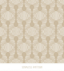 lace of overlapping filigree seamless pattern in soft brown