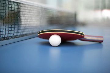 Table tennis ball and bat