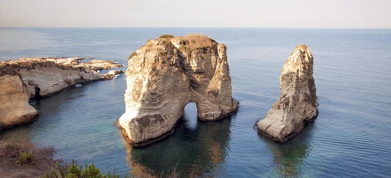 Beirut sea rock in Lebanon