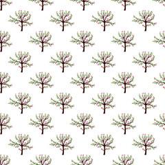Tree pattern seamless