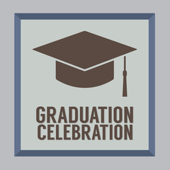 Flat Design Graduation Celebration Vector Illustration.
