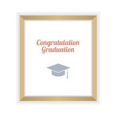 Flat Design Graduation Celebration Vector Illustration.