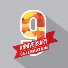 9th Years Anniversary Celebration Design.
