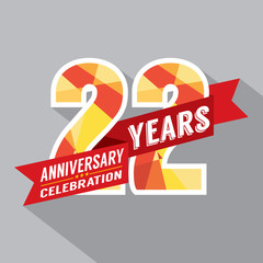 22nd Years Anniversary Celebration Design.