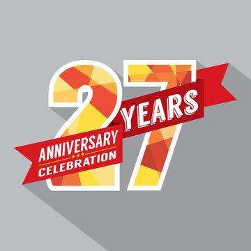 27th Years Anniversary Celebration Design.