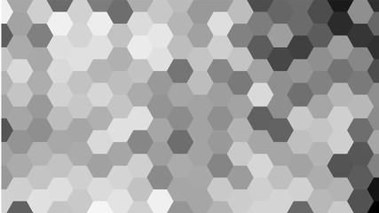 Grey geometric hexagon pattern without contour.