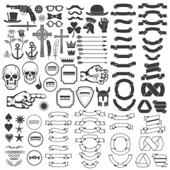 Vintage logo elements