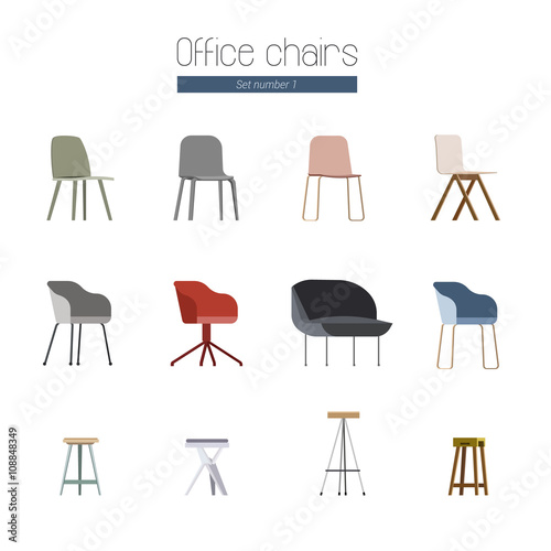scandinavian office chairs fichier vectoriel libre de droits sur la banque d 39 images fotolia. Black Bedroom Furniture Sets. Home Design Ideas