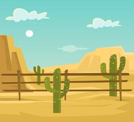 Desert. Vector flat cartoon illustration