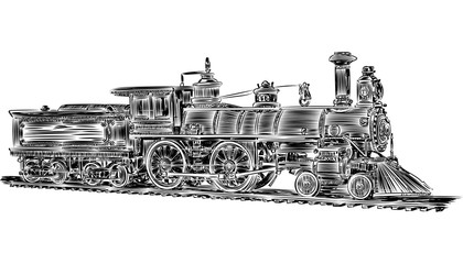 Vector - old locomotive