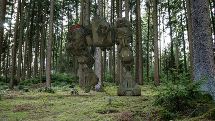 Mechwarrior in the Forest
