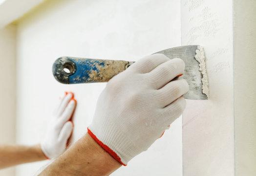 Decorative plaster coating.