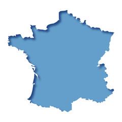 Logo carte de France.