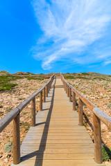 Wooden walkway to Praia do Bordeira beach, Algarve region, Portugal
