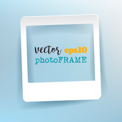 Vector Blank Photo Frame with empty space for your image.