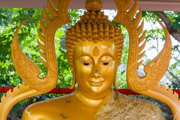 close up on face of buddha image
