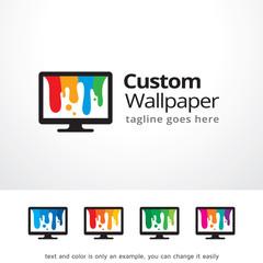 Custom Wallpaper Logo Template Design Vector