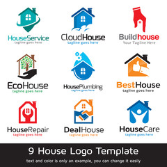 House Property Residence Logo Template Design Vector