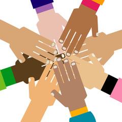 diversity hands together
