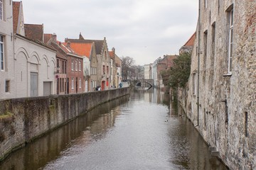 Bruges Canal with bridge