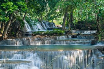 Huay Mae Kamin waterfall. Located at the Kanchanaburi province,