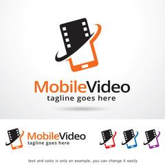 Mobile Video Logo Template Design Vector