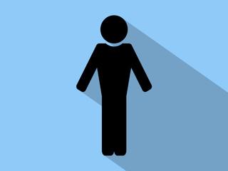 Simple black  male siluette