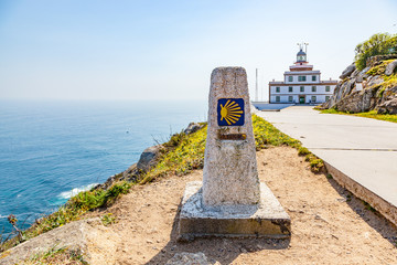 End of the Santiago trail at Cape Finisterre, Galicia, Spain Wall mural