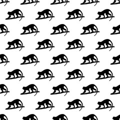 Monkey pattern seamless