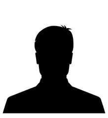 Male silhouette avatar icon black, user profile picture
