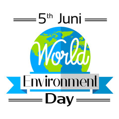 World Environment Day Earth Planet Globe Logo