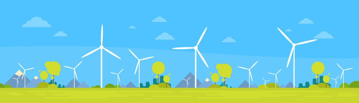 Wind Station Alternative Energy Generation Resource Nature Background Banner