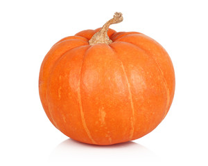 Ripe pumpkin on white background