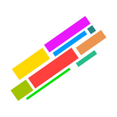 Colored bars sign icon illustration for design