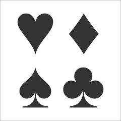 Card suit icon vector, playing cards symbols vector
