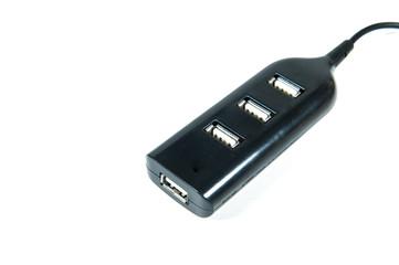 USB ports isolated on white background.