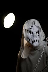 Evil hockey mask. Halloween concept
