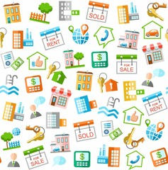 Property and real estate services, white seamless background.