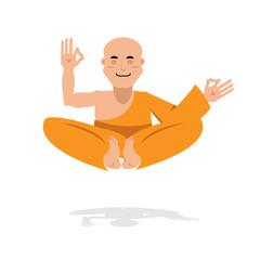 Tibetan monk meditating. Yoga Buddhist Tibet. Novice monastery i