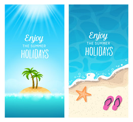 Summer Banners - Exotic Holidays