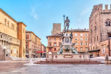Piazza del Nettuno square in Bologna, Italy